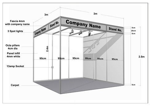 Event Support Network Aluminum Profile Octonorm Stalls
